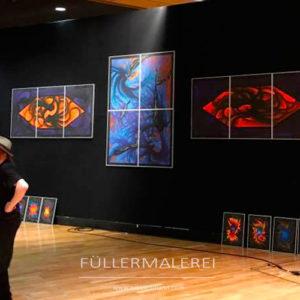 Ausstellungsaufbau Axel Neumann Worms
