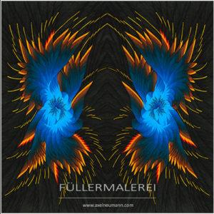 blau-braune Ableitung Phoenix Erwachen Axel Neumann