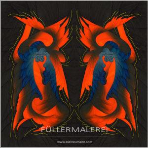 orange-blaue Ableitung Phoenix Erwachen Axel Neumann