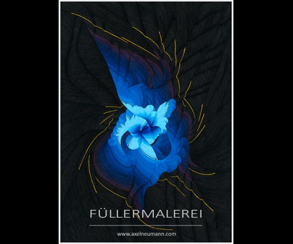 birth of blue Füllergemälde Axel Neumann