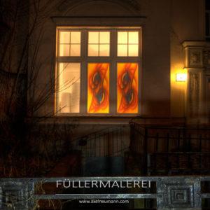 Buntglasfenster Axel Neumann Berlin nachts