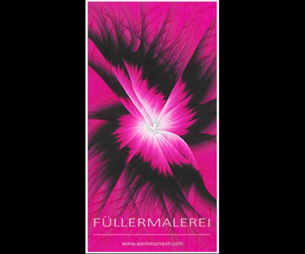 pinkfarbenes Füllergemälde Axel Neumann