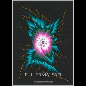 türkis-pink-farbenes Füllergemälde Axel Neumann