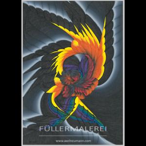 Regenbogenfarben Füllergemälde Axel Neumann