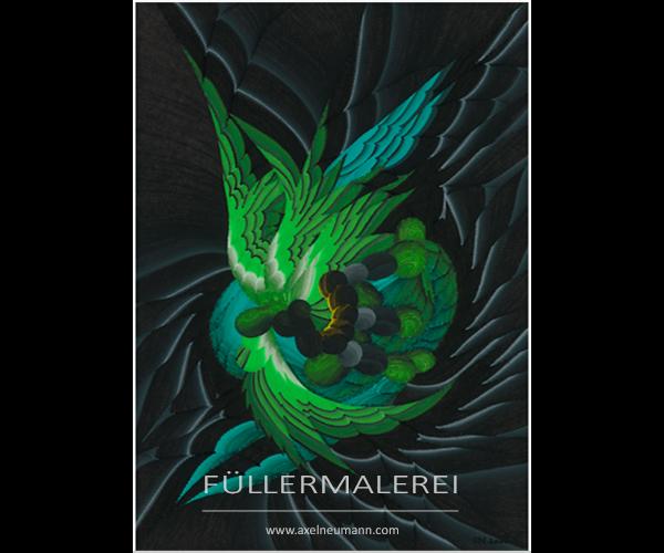 grünes Füllergemälde Axel Neumann