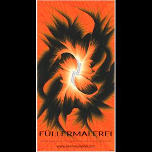 orangefarbenes Füllergemälde Axel Neumann