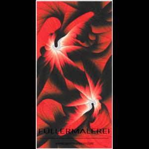 rotes Füllergemälde Axel Neumann