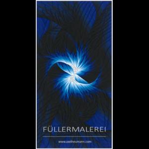 blaues Füllergemälde Axel Neumann