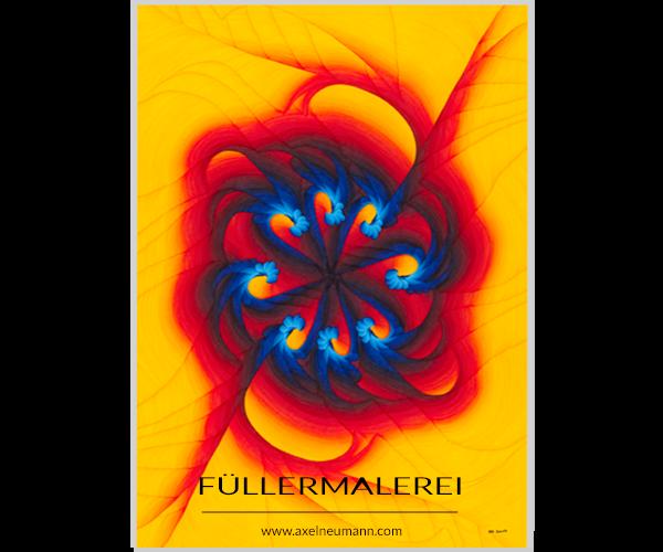 gelbes Mandala Füllergemälde Axel Neumann
